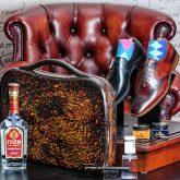 A man's fashion A-case carbonfiber briefcase